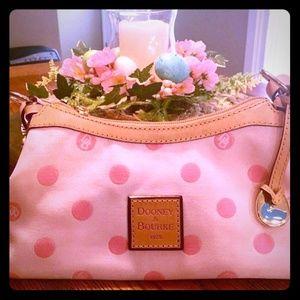 Dooney and Bourke Pink Polka Dot Small Hand Bag